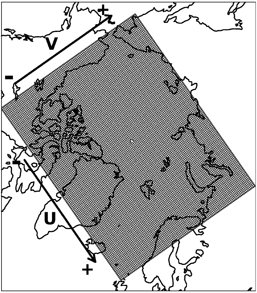 Interpolation between grids with Basemap